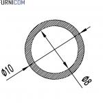 Труба алюминиевая круглая 10х1 / б.п.