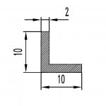 Уголок алюминиевый 10х10х2 / AS