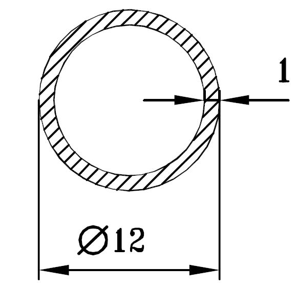 Труба алюминиевая круглая 12х1 / б.п.