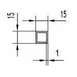 Труба алюминиевая квадратная 15х15х1 / AS