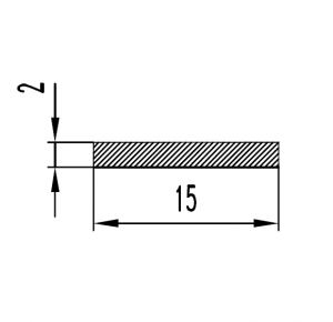 Полоса алюминиевая 15х2 / AS