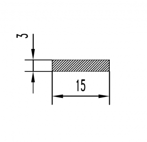 Полоса алюминиевая 15х3 / AS