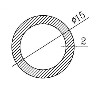 Труба алюминиевая круглая 15х2 / AS