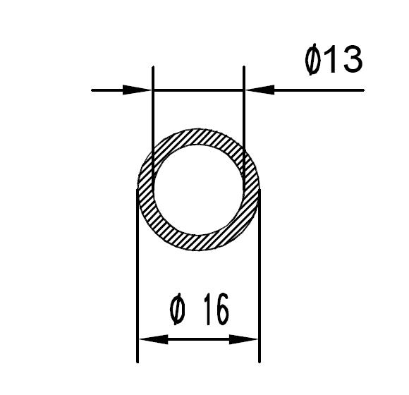 Труба алюминиевая круглая 16х1.5 / AS