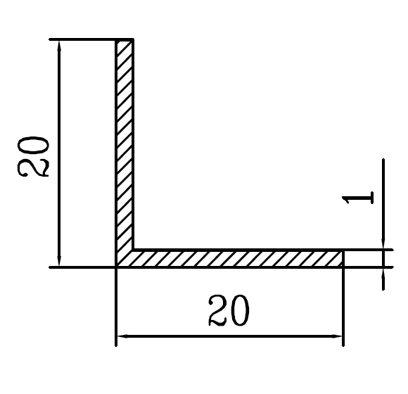 Уголок алюминиевый 20х20х1 / AS