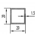 Труба алюминиевая квадратная 20х20х1.5 / б.п.