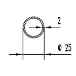 Труба алюминиевая круглая 25х2 / AS