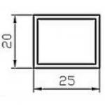 Труба алюминиевая прямоугольная 20х25х1.5 / б.п.
