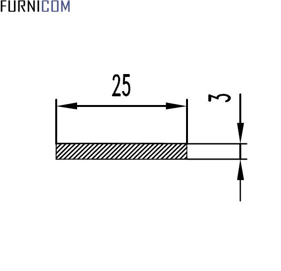 Полоса алюминиевая 25х3 / AS
