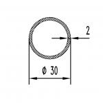 Труба алюминиевая круглая 30х2 / б.п.