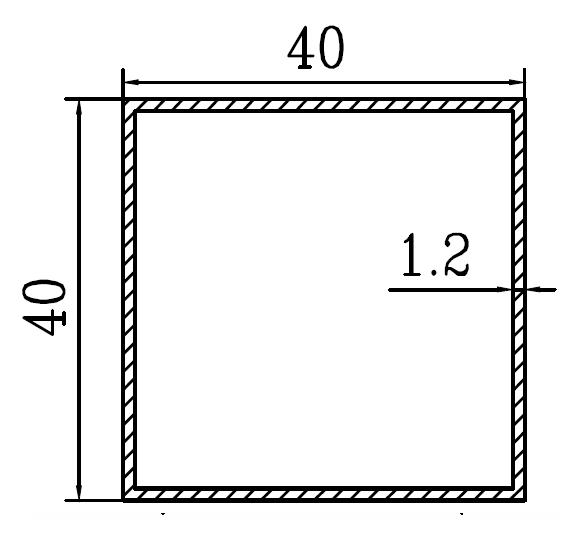 Труба алюминиевая квадратная 40х40х1.2 / AS