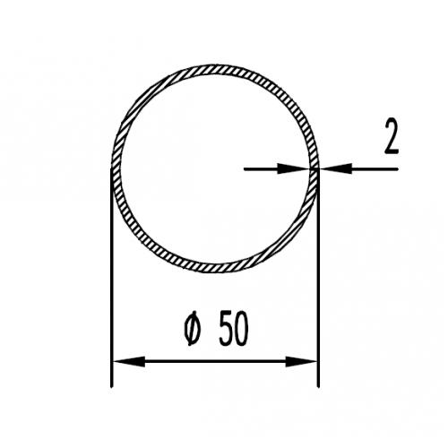 Труба алюминиевая круглая 50х2 / AS
