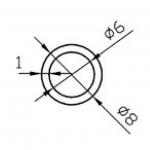Труба алюминиевая круглая 8х1 / AS