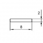 Полоса алюминиевая 8х2 / AS