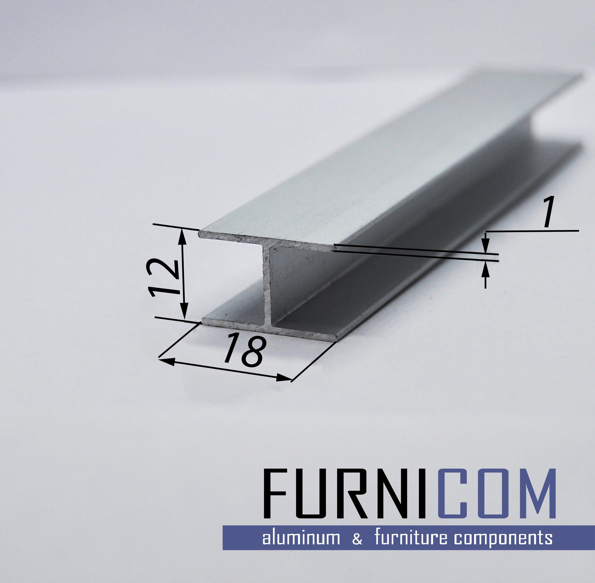 Двутавр алюминиевый 18х12х1 / AS