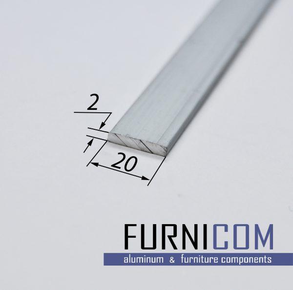 Полоса алюминиевая 20х2 / б.п.