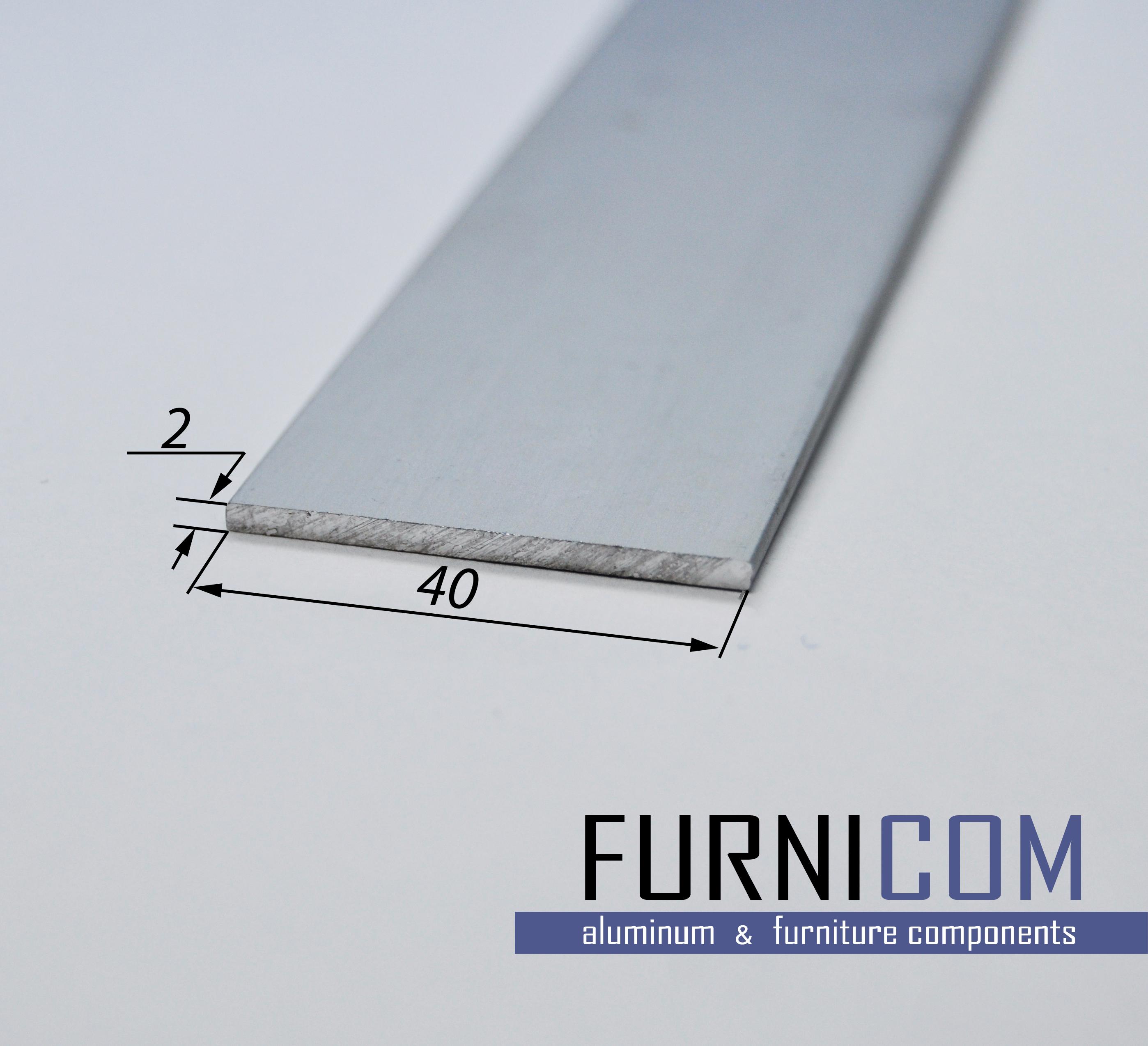 Полоса алюминиевая 40х2 / AS