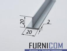 Тавр алюминиевый 20х20х2 / AS