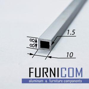 Труба алюминиевая прямоугольная 8.8х10х1.5 / AS