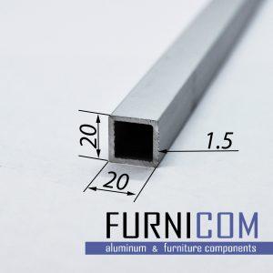 Труба алюминиевая квадратная 20х20х1.5 / AS