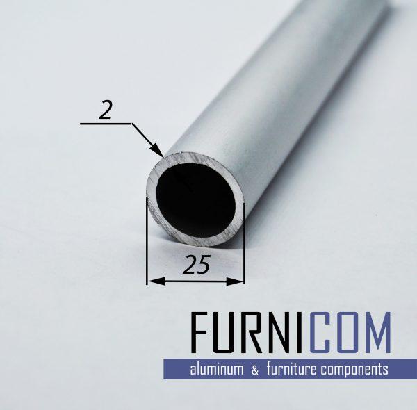 Труба алюминиевая круглая 25х2 / б.п.