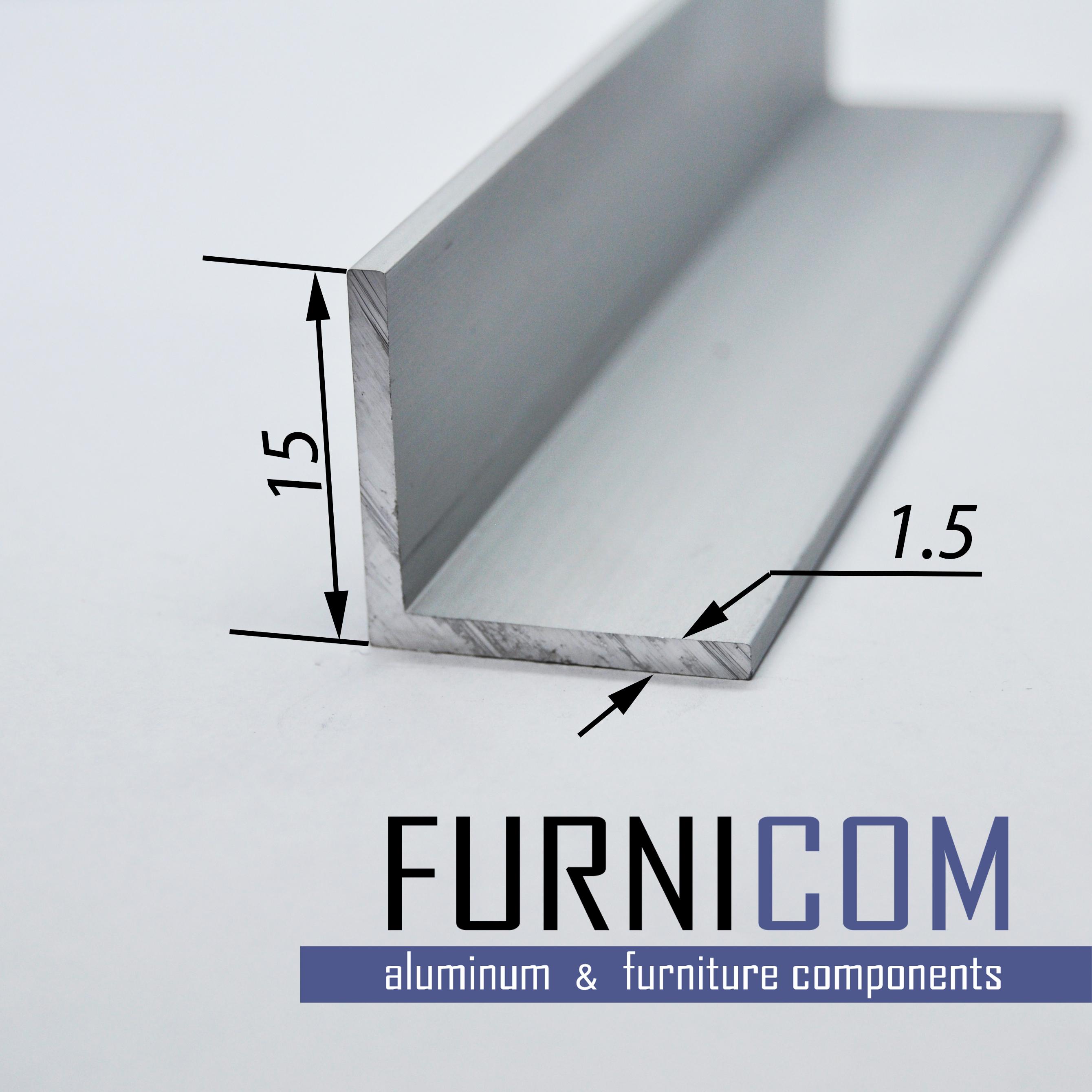 Уголок алюминиевый 15х15х1.5 / AS