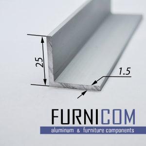 Уголок алюминиевый 25х25х1.5 / AS