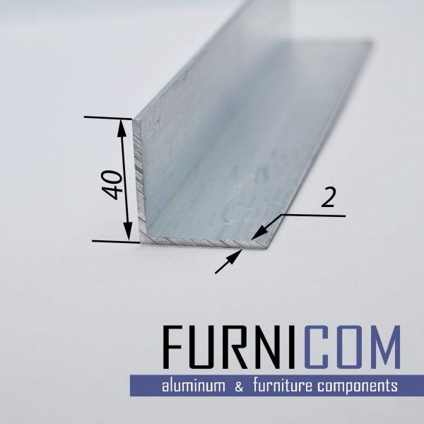 Уголок алюминиевый 40х40х2 / б.п.