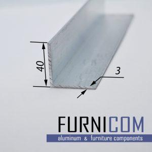 Уголок алюминиевый 40х40х3 / б.п.