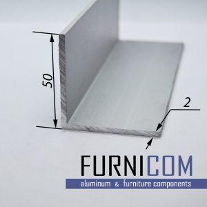 Уголок алюминиевый 50х50х2 / б.п.