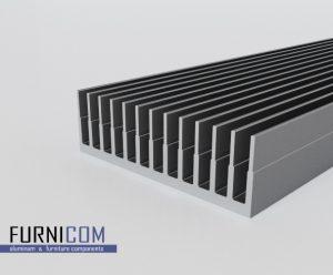 Радиаторный алюминиевый профиль 122х38 / б.п.