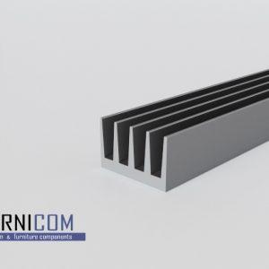 Радиаторный алюминиевый профиль 42х26 / б.п.
