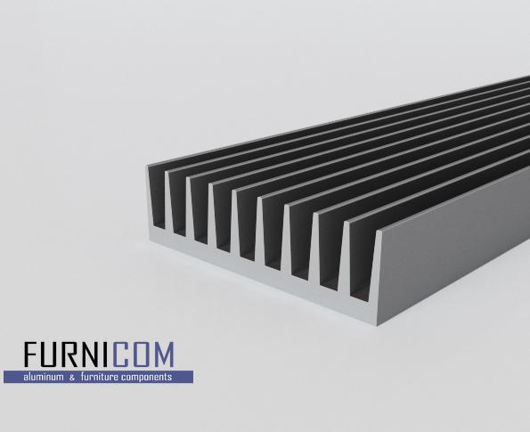 Радиаторный алюминиевый профиль 92х26 / б.п.