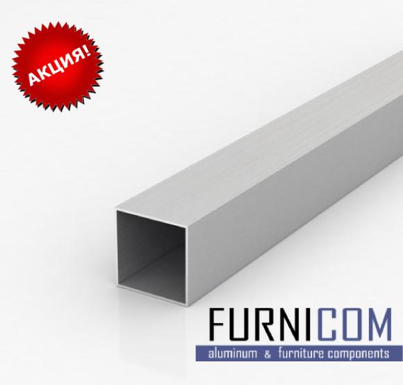 Труба алюминиевая квадратная 10х10х1 / AS