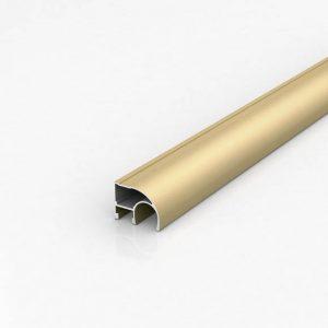 Алюминиевый профиль для шкафов-купе (Светлое золото)