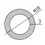 Труба алюминиевая круглая 18х3 / б.п.