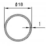 Труба алюминиевая круглая 18х1 / AS
