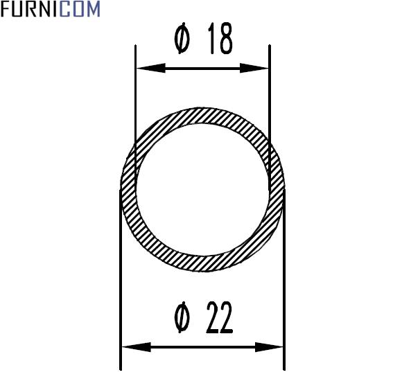 Труба алюминиевая круглая 22х2 / AS