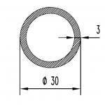 Труба алюминиевая круглая 30х3 / б.п.