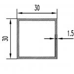 Труба алюминиевая квадратная 30х30х1.5 / б.п.
