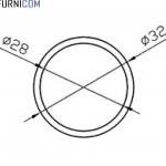 Труба алюминиевая круглая 32х2 / б.п.