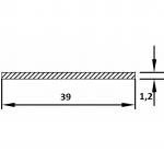Полоса алюминиевая 39х1.2 / AS