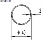 Труба алюминиевая круглая 40х2 / AS