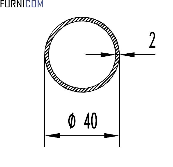 Труба алюминиевая круглая 40х2 / б.п.