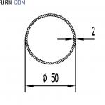 Труба алюминиевая круглая 50х2 / б.п.