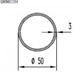 Труба алюминиевая круглая 50х3 / б.п.