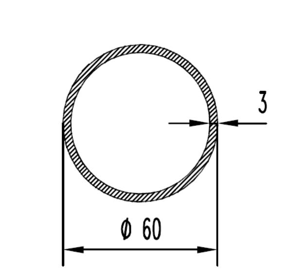 Труба алюминиевая круглая 60х3 / б.п.