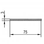 Полоса алюминиевая 75х3 / AS
