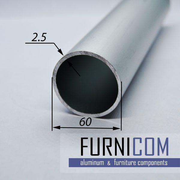 Труба алюминиевая круглая 60х2.5 / AS