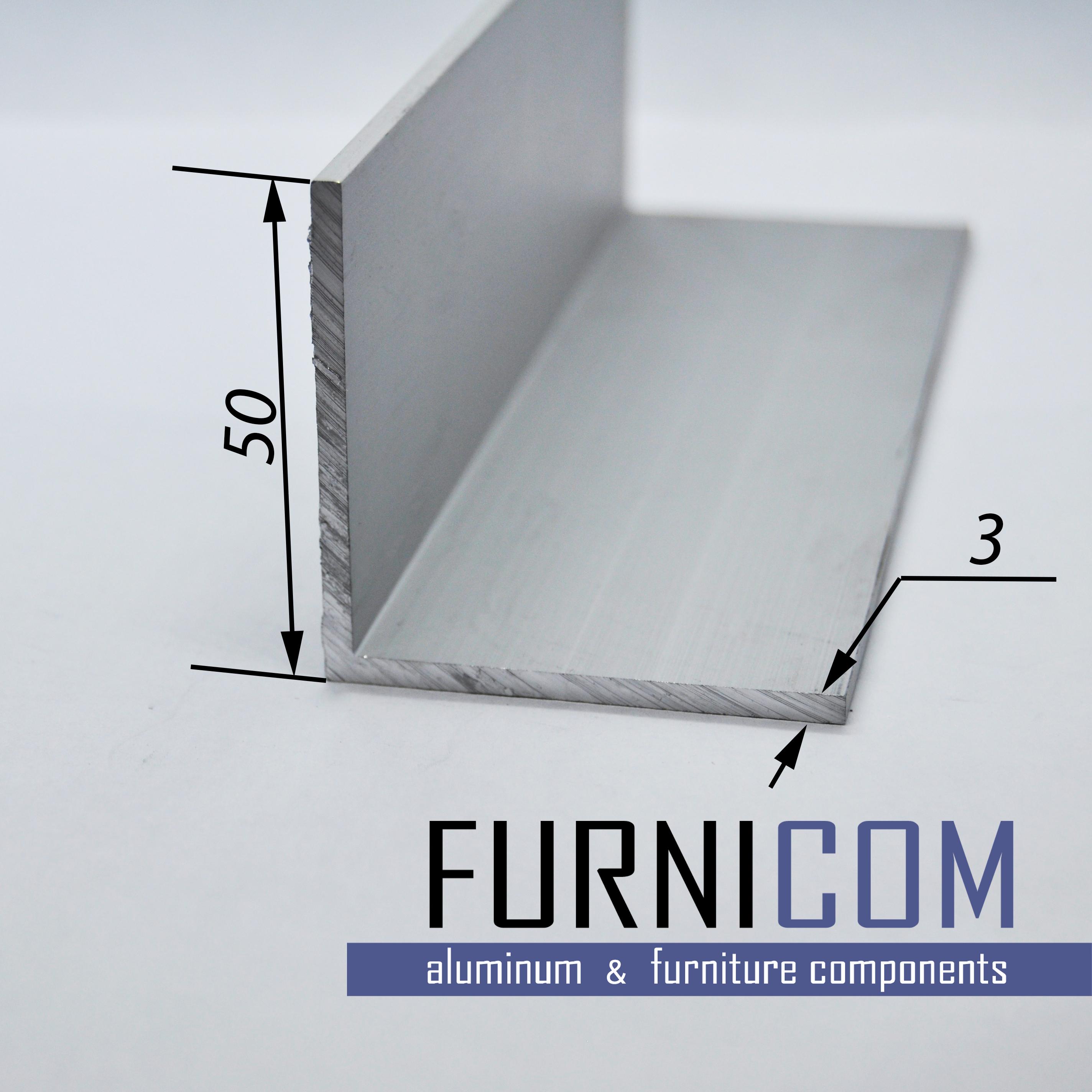 Уголок алюминиевый 50х50х3 / б.п.